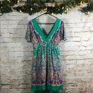 Tibi Dresses - Tibi Silk Paisley Dress Double V Neck